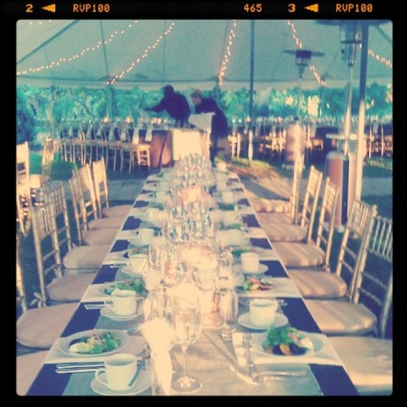wedding table at Pratt Gardens